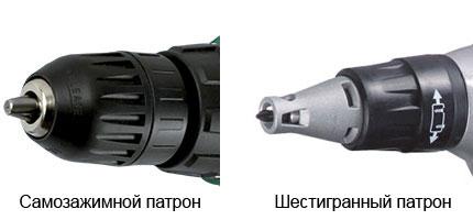 Тип патрона сетевого шуруповерта